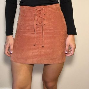 Burnt orange corduroy skirt. Sz 8.